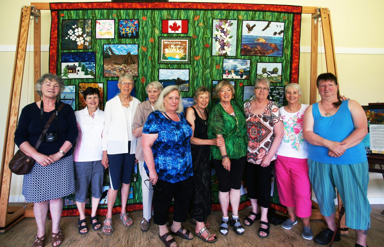 Saltair Quilters Canada 150 Quilt of Saltair