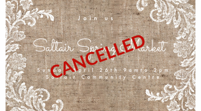 1st Annual Saltair Spring Craft Market Event Cancelled