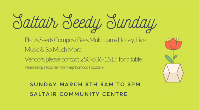 2nd Annual Saltair Seedy Sunday Event