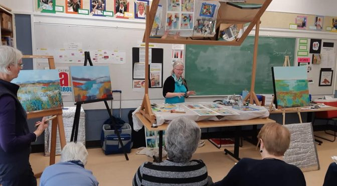 Chemainus Art Group Demonstration by Patt Scrivener