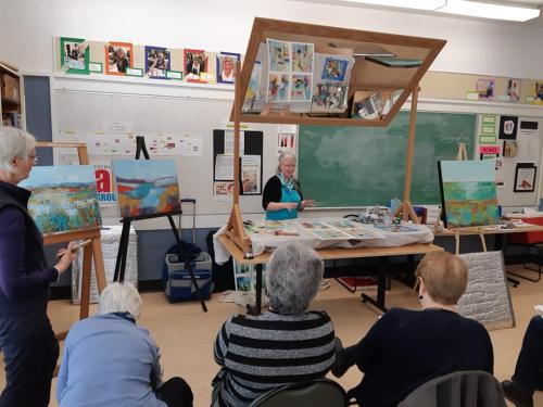 Chemainus Art Group Demo 2