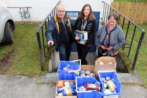 Food Bank donation from Saltair Community Chemainus Valley Courier photo by Don Bodger