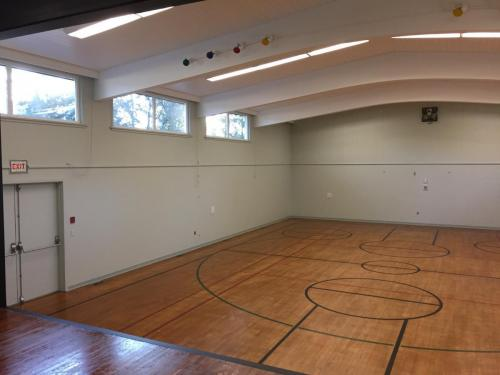 Gymnasium Upgrade of new Thermal Windows and a coat of new paint.